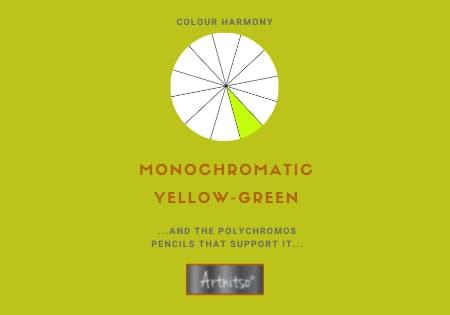 Monochromatic Polychromos Yellow-Green Number 05 Workbook - Artnitso