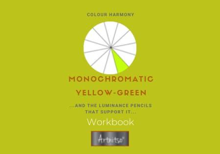 product Workbook Luminance monochromatic Yellow-Green - Artnitso