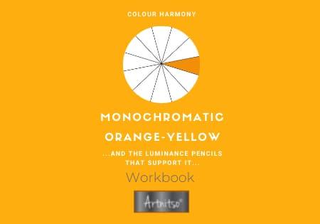 product Workbook Luminance monochromatic orange-yellow - Artnitso