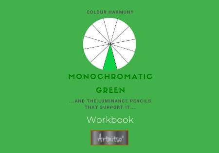 product Workbook luminance monochromatic Green - Artnitso