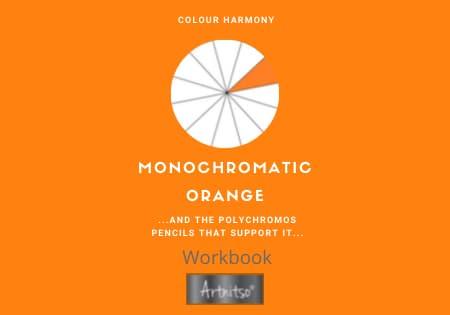 Monochromatic Polychromos -Orange Number 02 Workbook - Artnitso